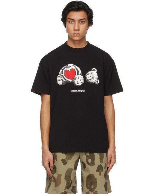 メンズ Palm Angels ブラック Bear In Love T シャツ Black