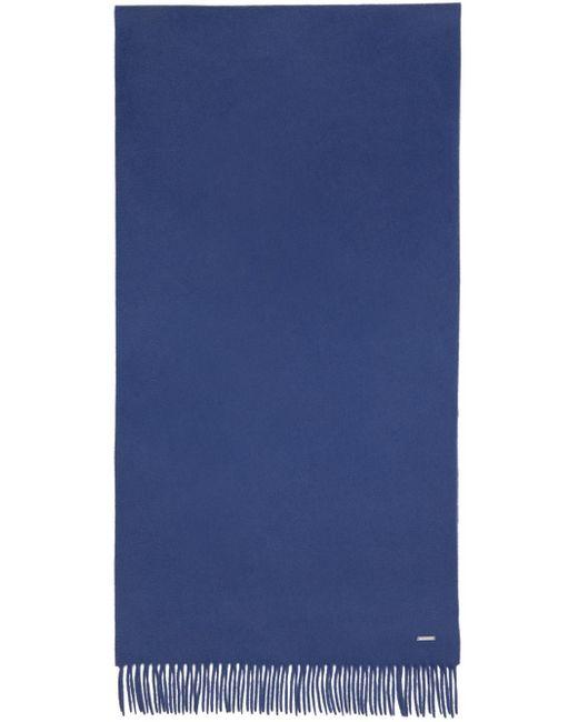 メンズ Loro Piana ブルー カシミア Frisson Grande Unita マフラー Blue