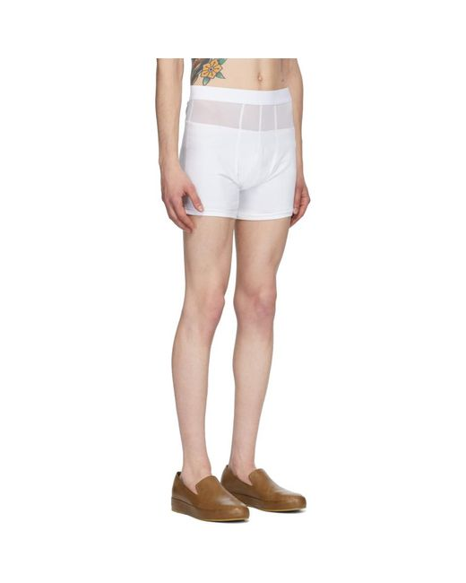 メンズ Bianca Saunders Ssense 限定 ホワイト Fresh Pair ショーツ White