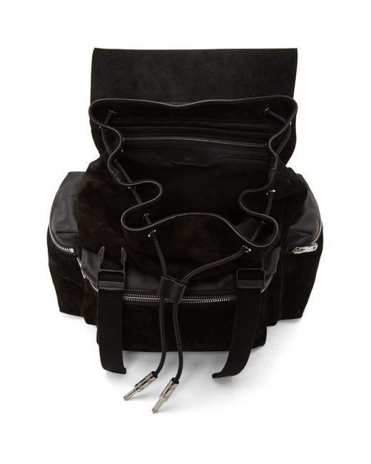 Sac a dos en suede noir Rucksack Amiri pour homme en coloris Black