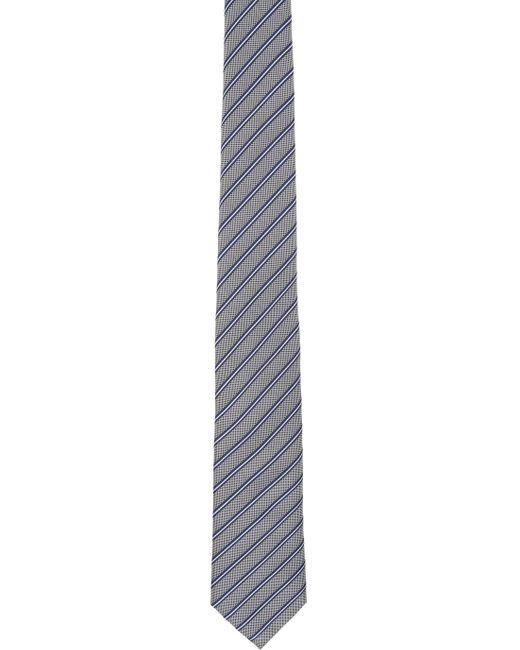 メンズ Giorgio Armani ブルー ストライプ ネクタイ Blue