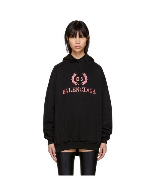 Balenciaga - Black Bb Hoodie - Lyst