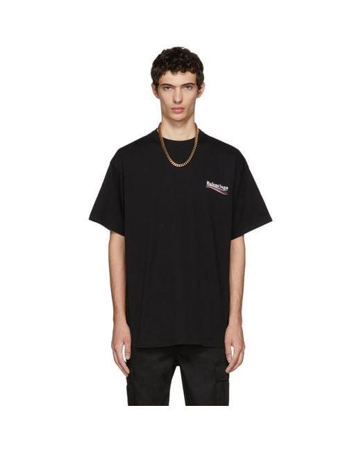 T-shirt noir Campaign Logo Balenciaga pour homme en coloris Black