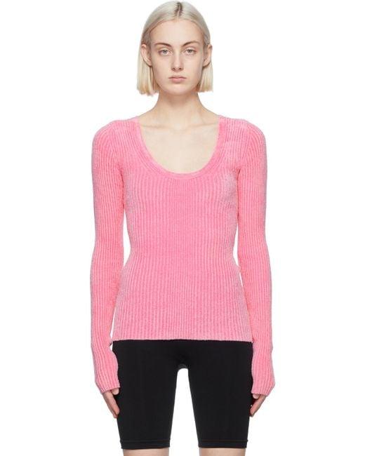 Helmut Lang ピンク Rib Pullover セーター Pink