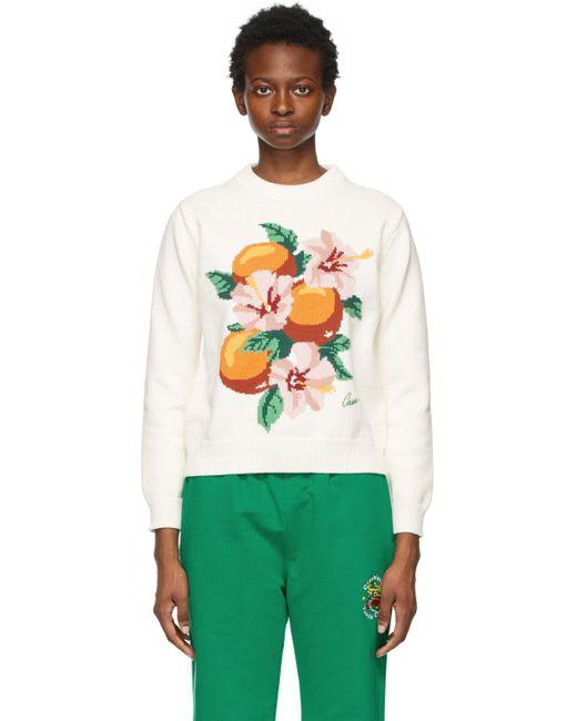 CASABLANCA ホワイト La Fleur D'oranger セーター Multicolor