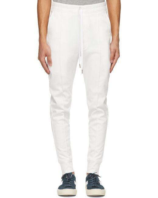 メンズ Tom Ford ホワイト ラウンジ パンツ White