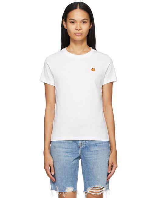 KENZO ホワイト Tiger Crest T シャツ White