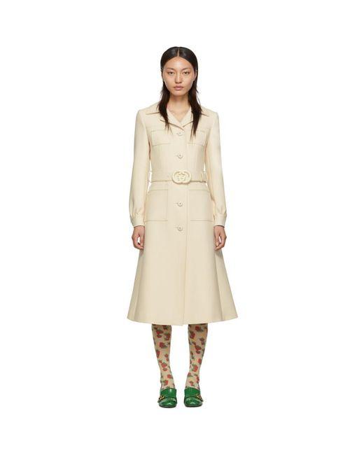 Gucci オフホワイト ウール コート White