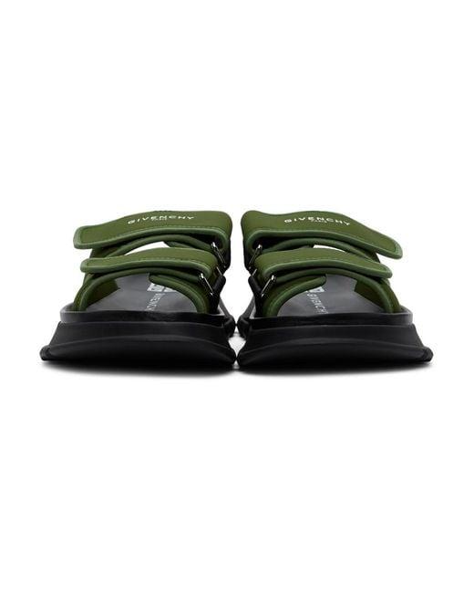 メンズ Givenchy カーキ Spectre サンダル Green