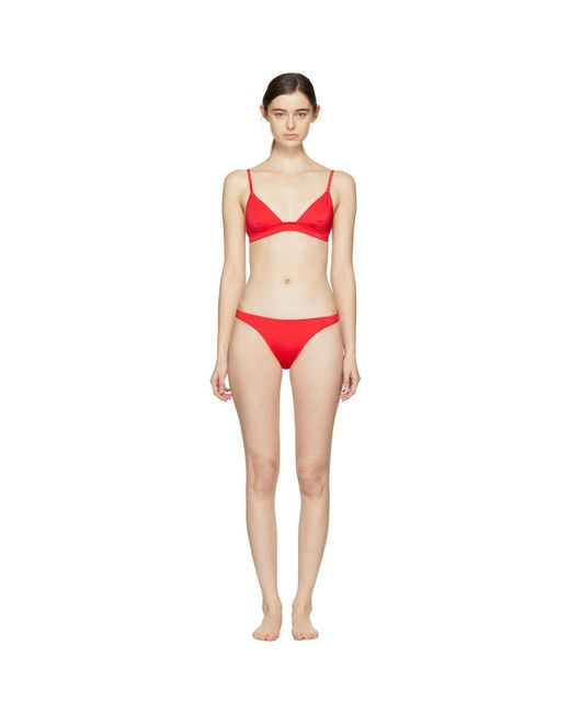 Solid & Striped - Ssense Exclusive Red The Morgan Top And The Lili Bottom Bikini - Lyst