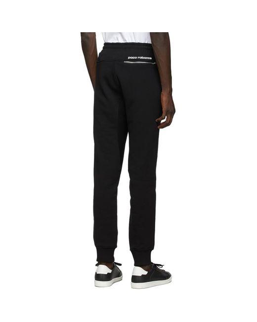 メンズ Paco Rabanne ブラック Lounge Pant トラウザーズ Black