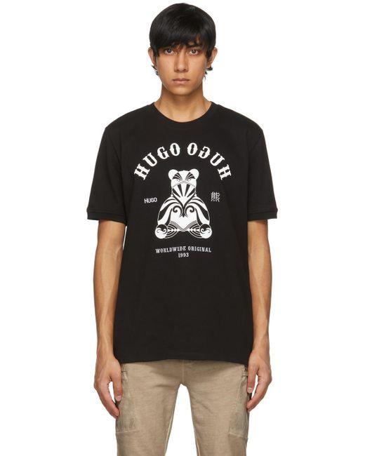 メンズ HUGO ブラック Duto T シャツ Black