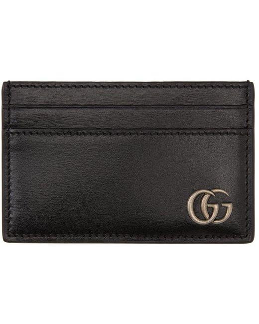 メンズ Gucci ブラック Marmont カード ケース Black
