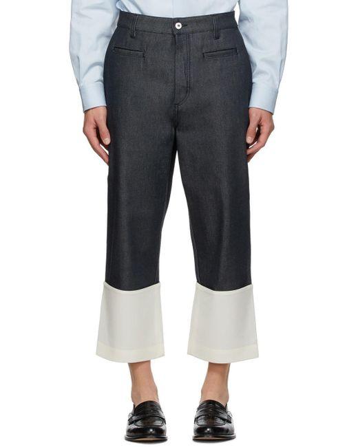 メンズ Loewe ネイビー フィッシャーマン ジーンズ Blue