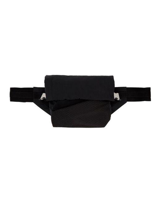 メンズ Bottega Veneta ブラック ナイロン バム バッグ Black