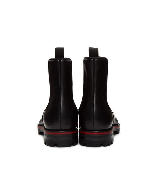 cheap for discount af96d a73cd Men's Black Melon Spikes Chelsea Boots