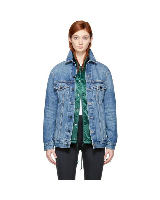 Alexander Wang - Blue Oversized Denim Daze Jacket - Lyst