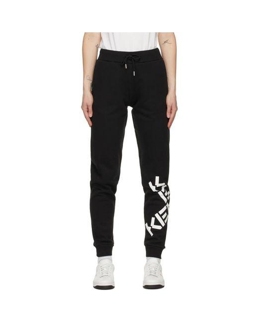 KENZO ブラック Sport Big X ラウンジ パンツ Black