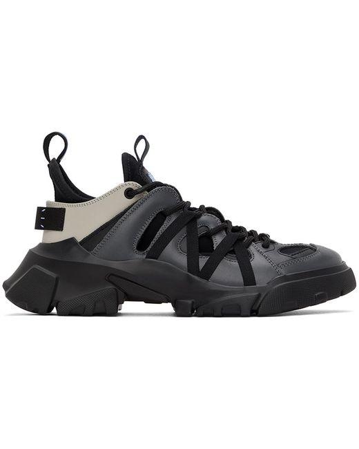 McQ Alexander McQueen Black Grey Orbyt Descender Sneakers for men