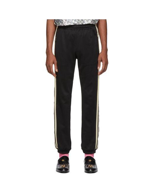 メンズ Gucci ブラック オーバーサイズ GG ラウンジ パンツ Black