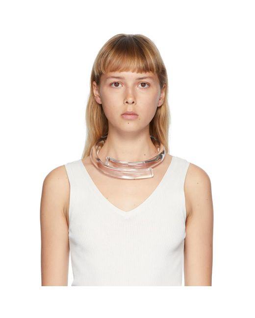 Monies トランスペアレント Kuala Lumpur ネックレス White