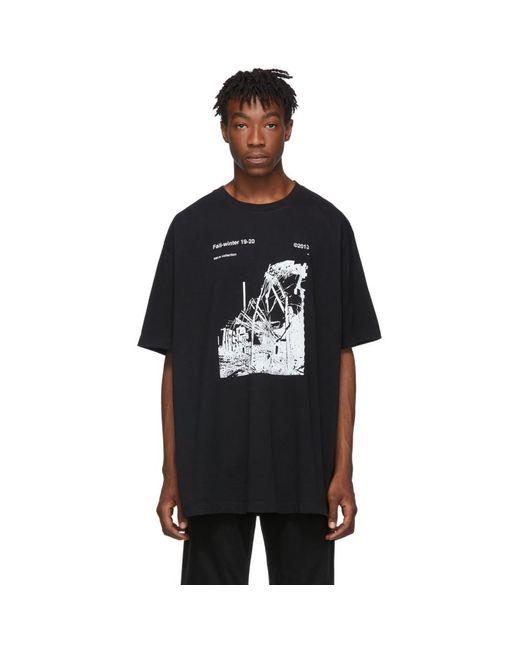 メンズ Off-White c/o Virgil Abloh ブラック And ホワイト Ruined Factory T シャツ Black