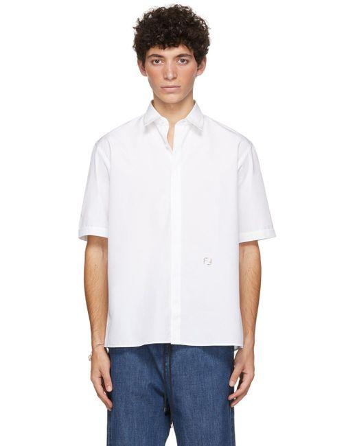 メンズ Fendi ホワイト ショート スリーブ シャツ White