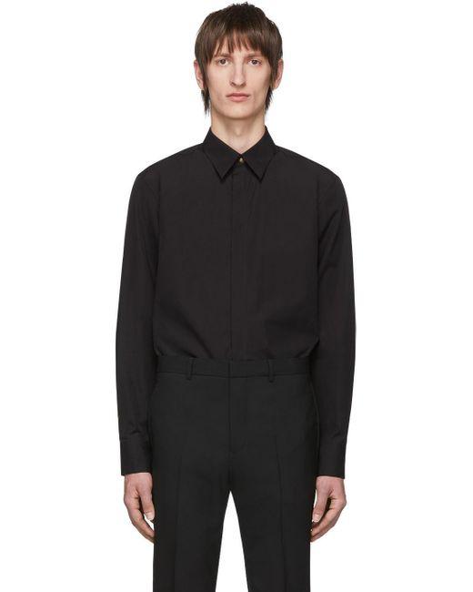 メンズ Givenchy ブラック ゴールド ボタン シャツ Black