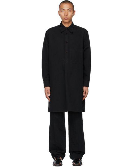 メンズ Lemaire ブラック Liquette シャツ Black