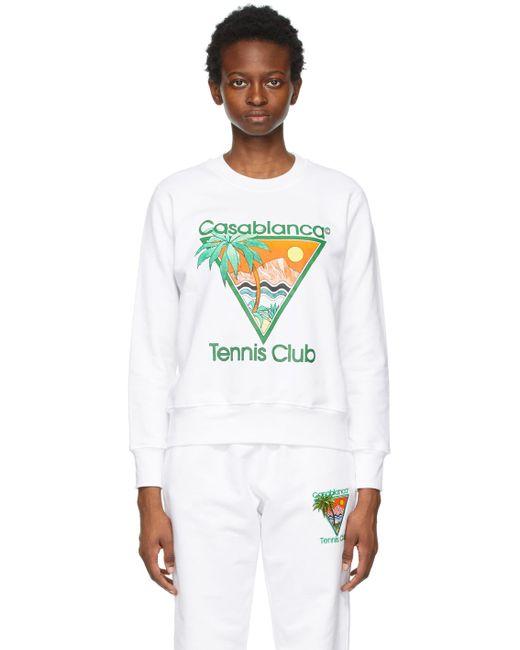 CASABLANCA ホワイト Tennis Club スウェットシャツ White