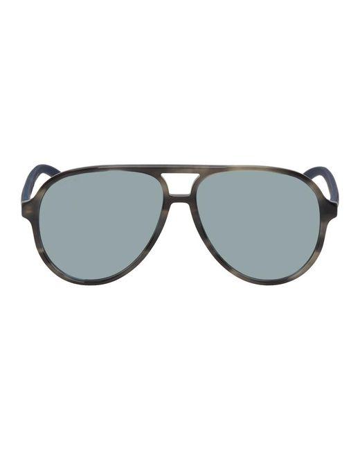 39e6d233509 Gucci - Gray Grey Sport Pilot Sunglasses for Men - Lyst ...