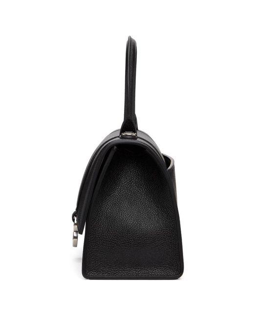 Balenciaga ブラック スモール Hourglass バッグ Black