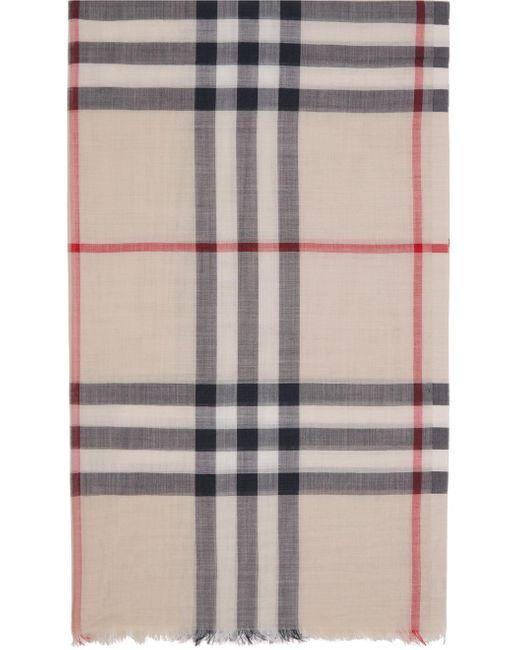 メンズ Burberry オフホワイト ジャイアント チェック スカーフ Multicolor