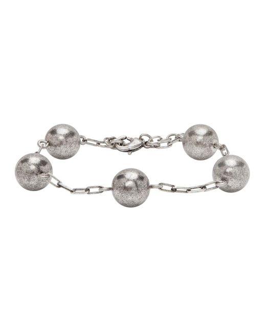 Bracelet a chaine argente Beaded Saint Laurent pour homme en coloris Metallic