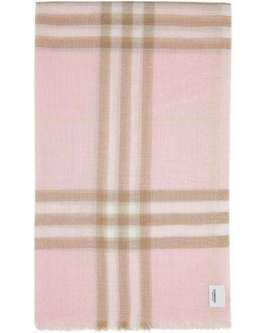 Burberry ピンク チェック スカーフ Pink