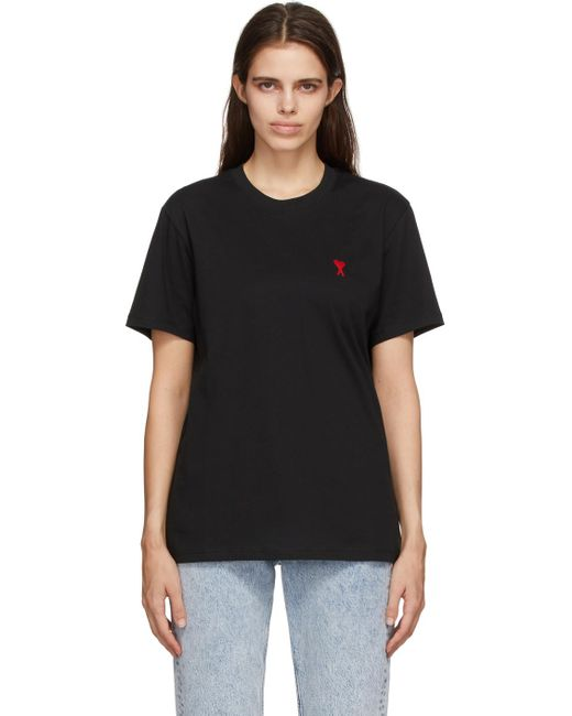 AMI Black Ami De Cœur T-shirt