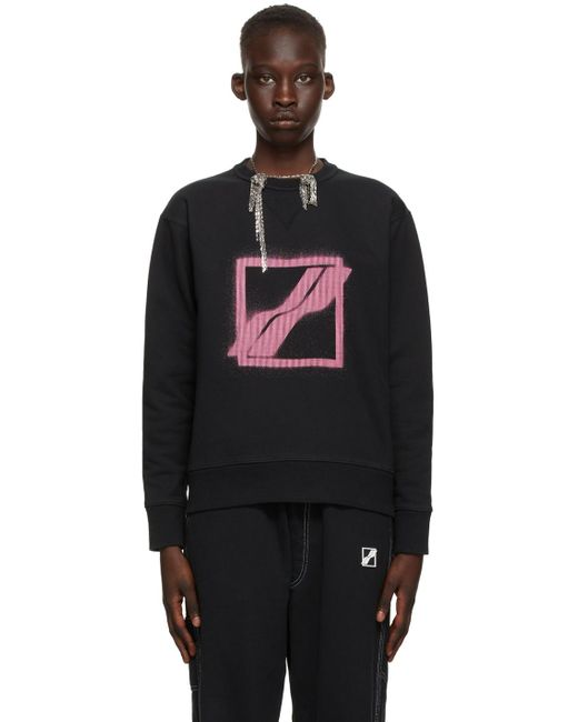 we11done ブラック ロゴ スウェットシャツ Black