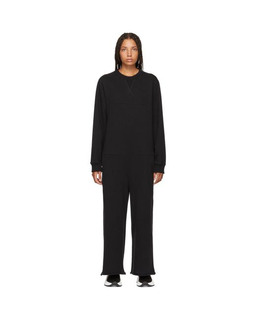 MM6 by Maison Martin Margiela - Black Jersey Jumpsuit - Lyst
