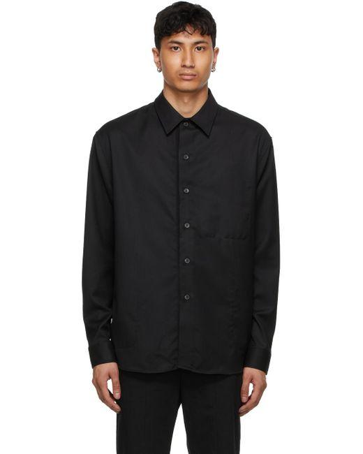 メンズ Tom Wood ブラック オーバーシャツ Black