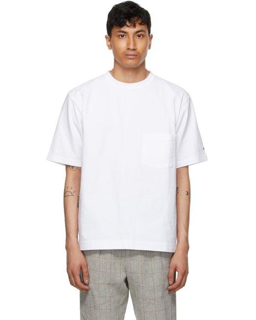 メンズ Snow Peak ホワイト T シャツ White