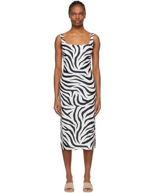 Maryam Nassir Zadeh Ssense 限定 ホワイト & ブラック Salma ドレス Multicolor