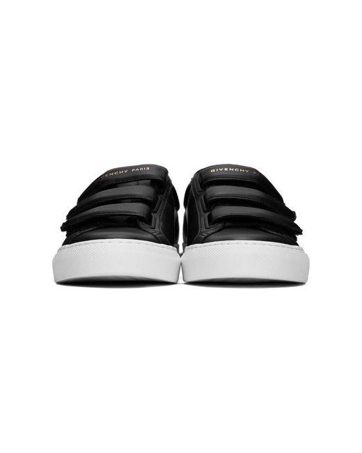 メンズ Givenchy ブラック ベルクロ アーバン ノット スニーカー Black
