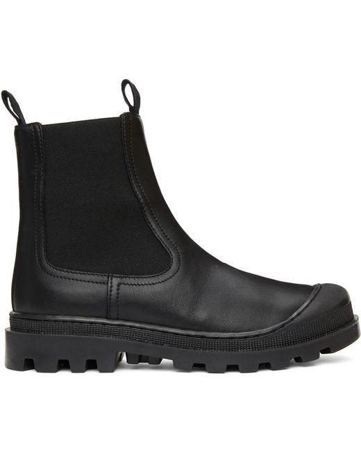 Loewe ブラック チェルシー ブーツ Black