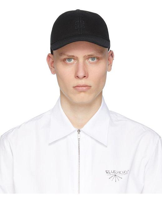 メンズ Givenchy ブラック 4g キャップ Black