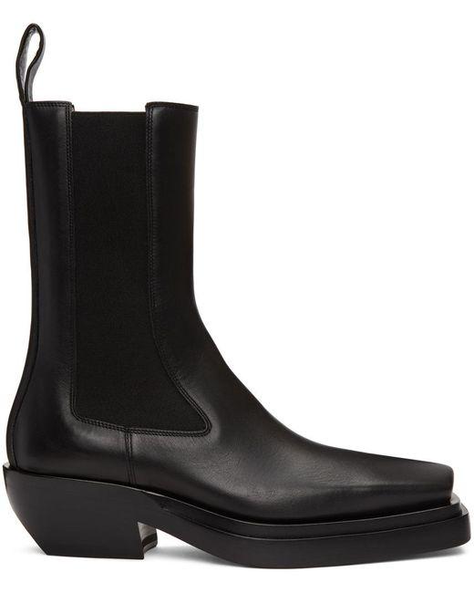 メンズ Bottega Veneta ブラック The Lean ミッドカーフ チェルシー ブーツ Black