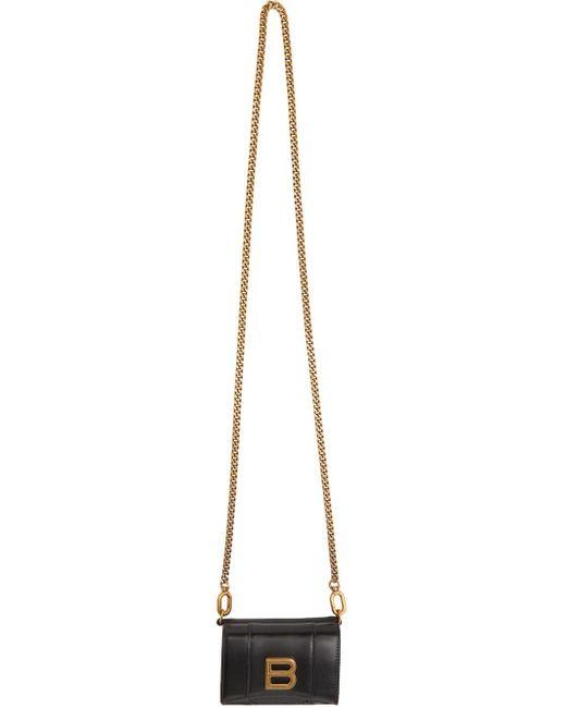 Balenciaga ブラック ミニ Hourglass ウォレット バッグ Black