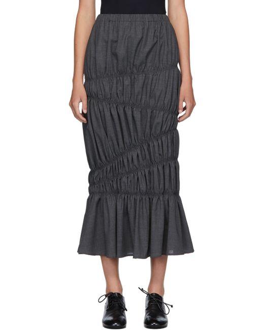 Enfold グレー ウール ライト サマー ティアード スカート Gray