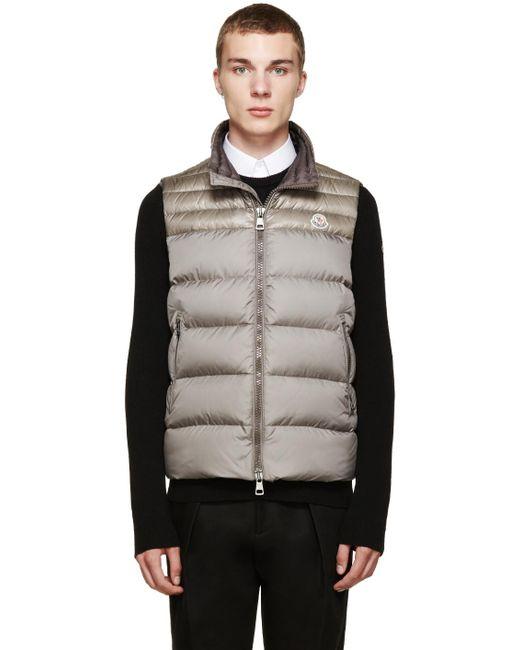 Moncler | Gray Grey Down Dubres Vest for Men | Lyst