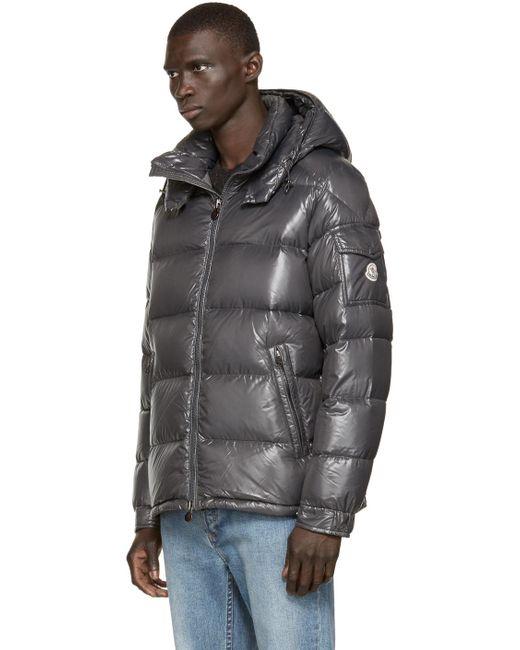 moncler black quilted down maya jacket