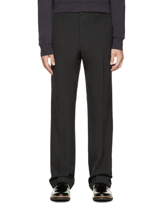 Paul Smith | Black Grey Straight Leg Trousers for Men | Lyst